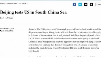 """Tổng thống Joe Biden có """"trách nhiệm nặng nề"""" trong việc đối phó với hành động gây hấn của Trung Quốc ở Biển Đông"""
