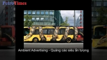video ambient advertising quang cao sieu an tuong