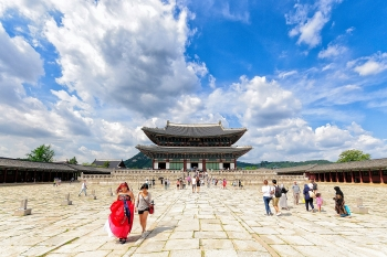 video gyeongbok cung dien lon nhat han quoc