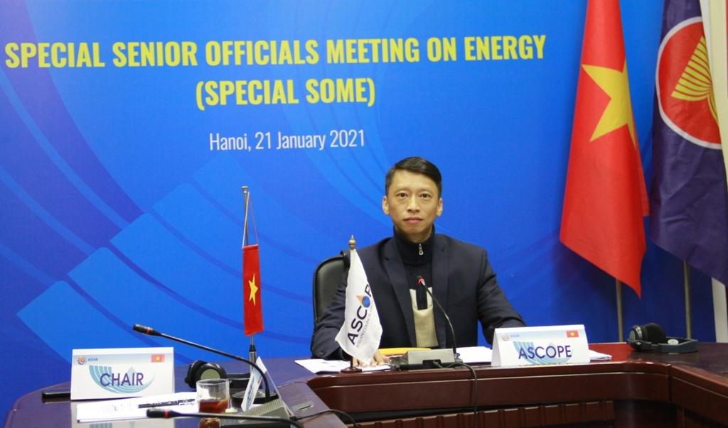 Tổng Thư ký ASCOPE Trần Hồng Nam tham dự Hội nghị các quan chức cấp cao năng lượng ASEAN đặc biệt
