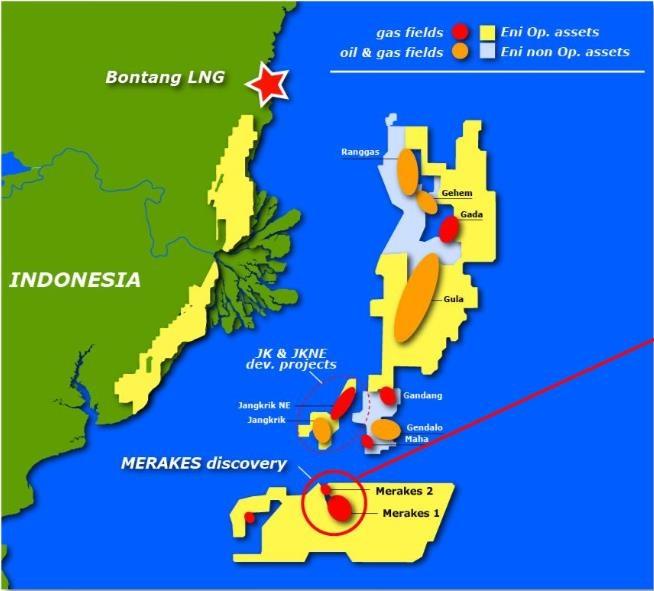 eni du kien khoan mo khi merakes ngoai khoi indonesia trong thang 32019