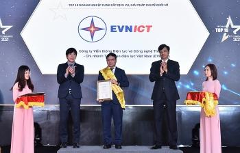 EVNICT đạt danh hiệu Top 10 doanh nghiệp Công nghệ thông tin Việt Nam năm 2021