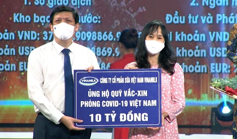 Vinamilk chung tay cùng Chính phủ, góp Quỹ Vaccine phòng Covid-19