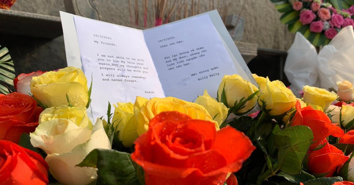 Cựu binh Mỹ gửi 504 bông hồng tưởng niệm vụ thảm sát Sơn Mỹ
