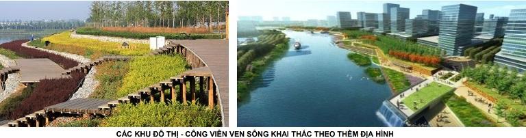 Đề xuất các khu đô thị hiện đại mật độ thấp hai bờ sông Hồng