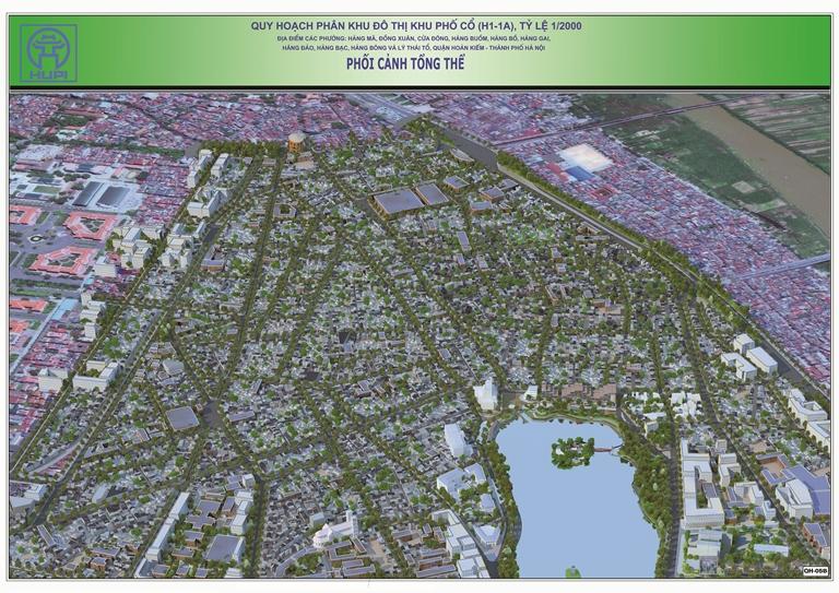 Những điểm đáng chú ý tại Quy hoạch phân khu H1-1A, khu phố cổ Hà Nội