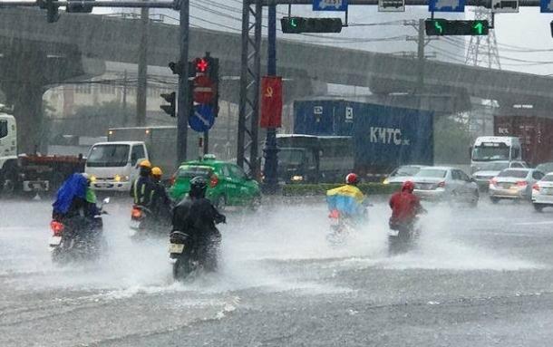 Áp thấp nhiệt đới suy yếu, Trung Bộ, Tây Nguyên và miền Đông Nam Bộ mưa lớn
