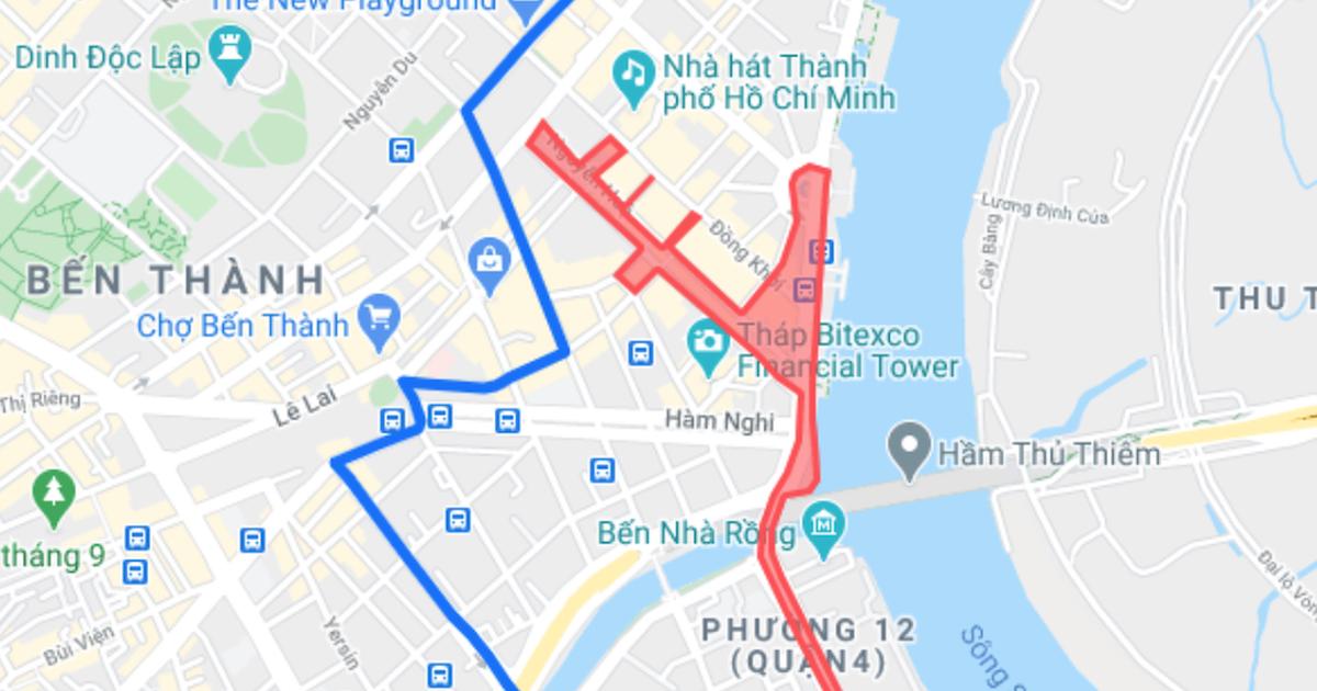 Cấm xe nhiều tuyến đường trung tâm Sài Gòn ngày cuối năm