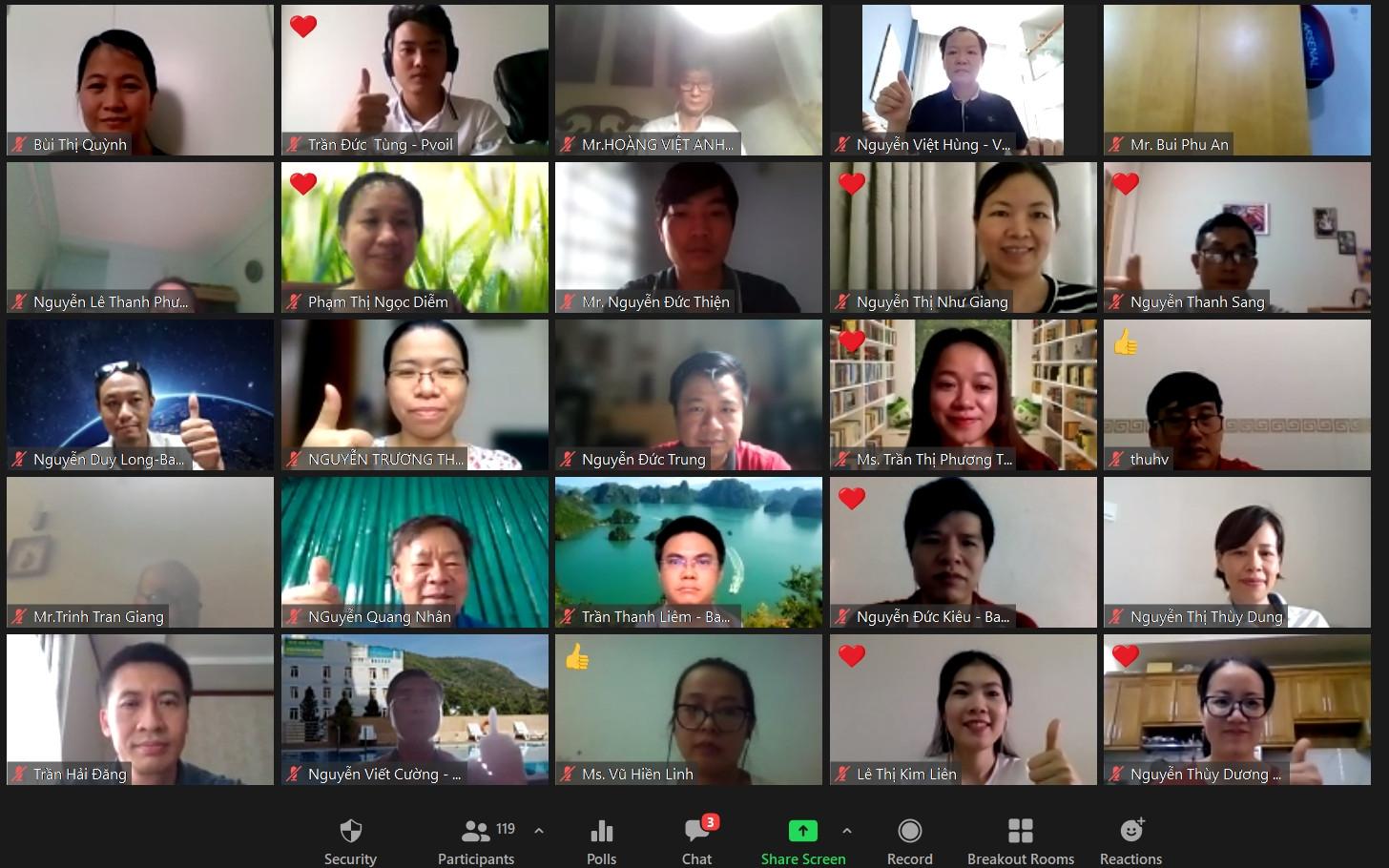"""PVOIL tổ chức đào tạo trực tuyến: """"Tạo động lực tích cực và nâng cao hiệu quả làm việc từ xa"""""""