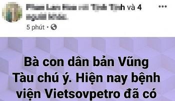 facebooker tung tin sai su that ve dich corona tai trung tam y te vietsovpetro