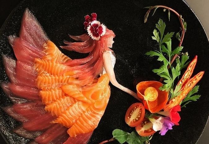 Nghệ thuật từ… sashimi