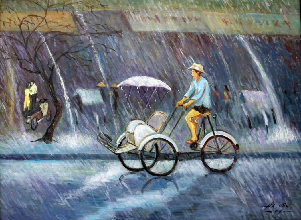 Triển lãm tranh của các họa sĩ cao tuổi