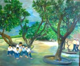 Trường Sa hùng vĩ và thân thương trong tranh sơn dầu