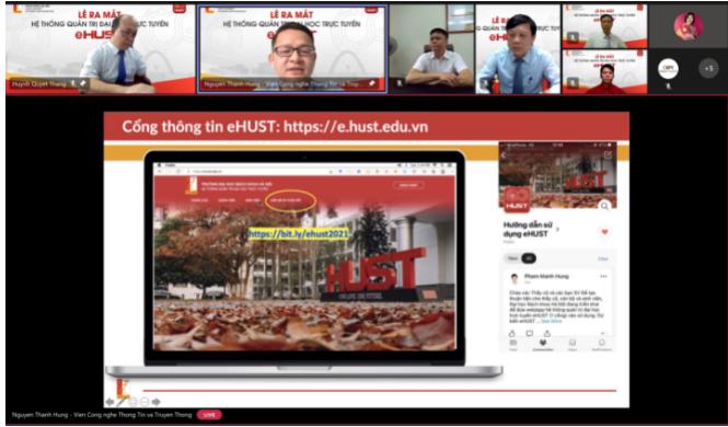 Đại học Bách khoa Hà Nội ra mắt Hệ thống Quản trị đại học trực tuyến eHUST