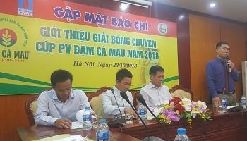 8 doi manh tham gia giai bong chuyen cup pv dam ca mau 2018
