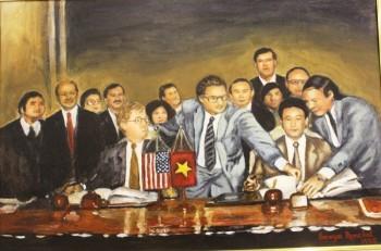 Vẻ đẹp Việt Nam qua tranh nữ họa sỹ Mỹ