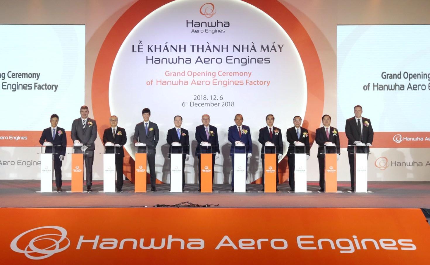 Khánh thành Nhà máy động cơ máy bay Hanwha Aero Engines tại Khu Công nghệ cao Hòa Lạc