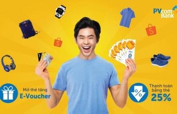 giam ngay 25 tai shopee voi the pvcombank mastercard