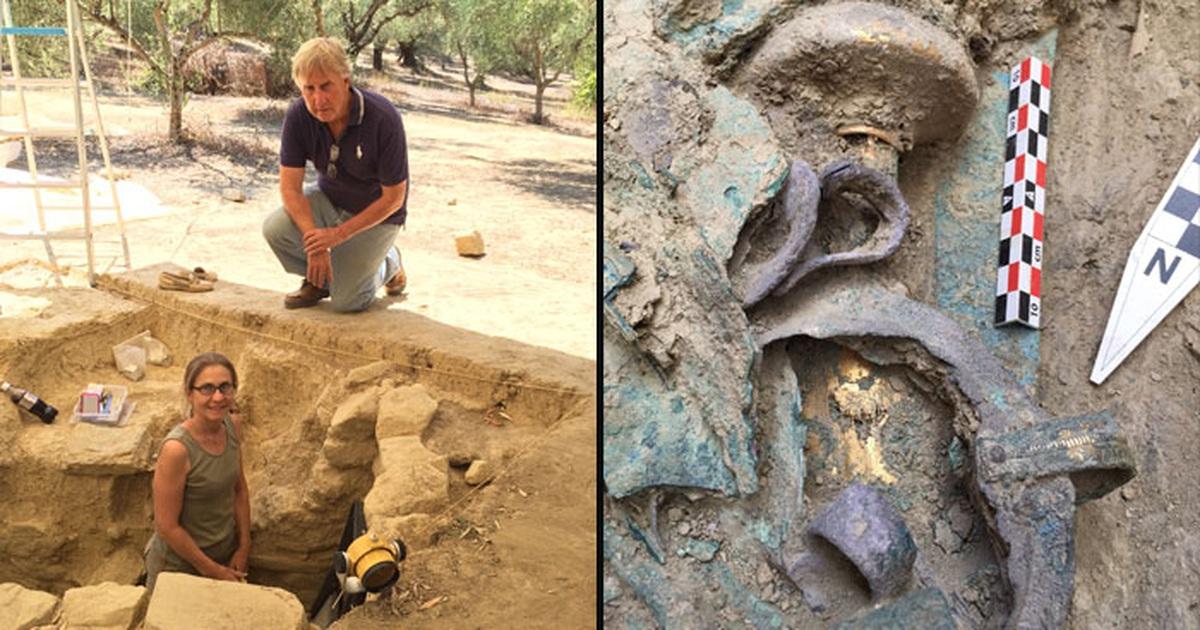 Choáng với ngôi mộ cổ 5.000 năm chất đầy vàng bạc của chiến binh Hy Lạp