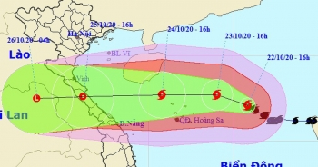 Bão số 8 tăng cường độ, tiến gần quần đảo Hoàng Sa