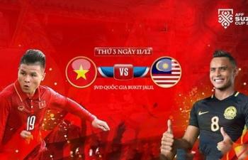 xem truc tiep bong da malaysia vs viet nam 19h45 ngay 1112 chung ket aff cup 2018