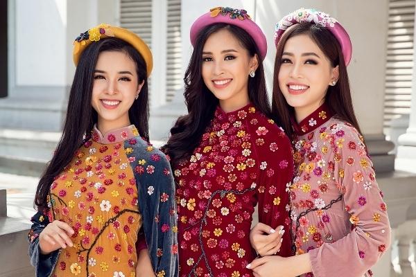 Ngây ngất với vẻ đẹp của Top 3 Hoa hậu Việt Nam trong bộ ảnh Tết