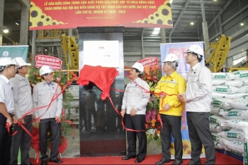 PVCFC tổ chức Lễ gắn biển công trình sản xuất phân bón phức hợp từ urea nóng chảy công suất 300.000 tấn/năm