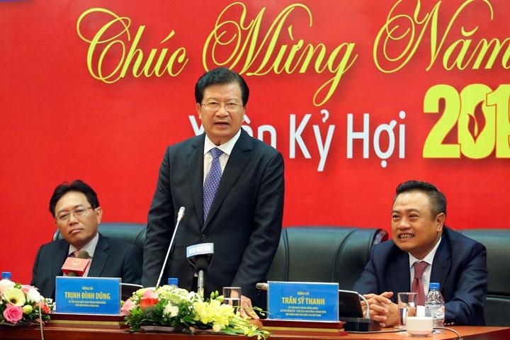 Phó Thủ tướng Trịnh Đình Dũng làm việc, chúc mừng năm mới Tập đoàn Dầu khí Việt Nam