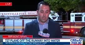 Máy bay chở 143 người trượt khỏi đường băng, lao xuống sông ở Mỹ