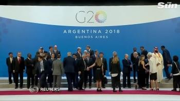 Các nhà lãnh đạo thế giới chụp ảnh lưu niệm chung tại hội nghị G20 ở Argentina