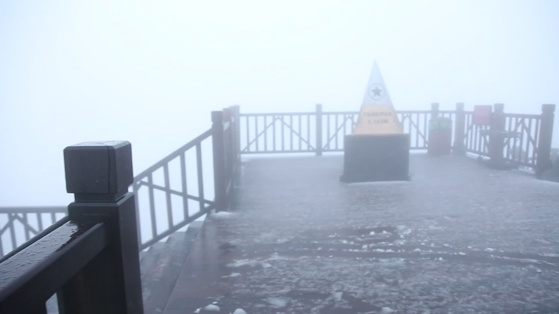 Mưa băng và tuyết ở Fansipan